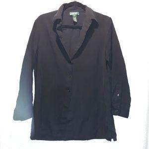 Lauren Ralph Lauren 100% silk Button Front blouse